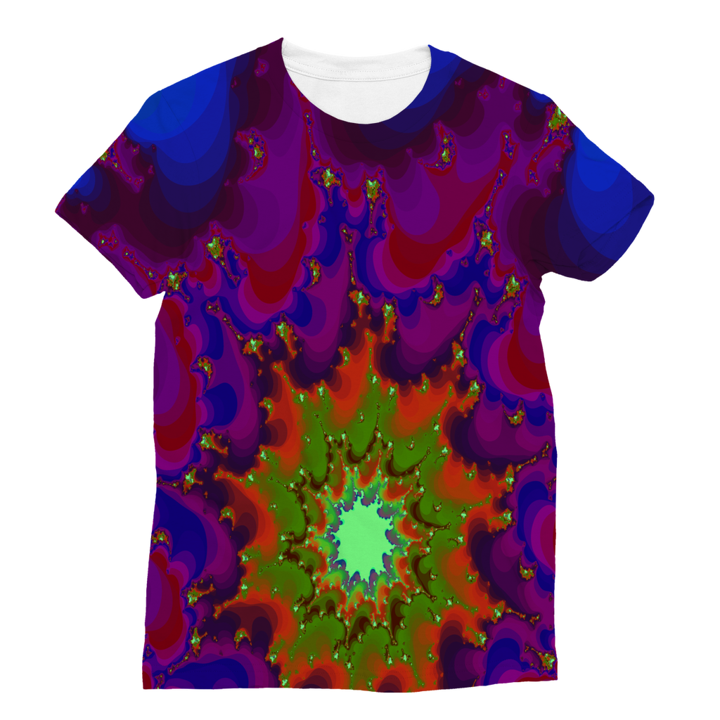 Cool 3D fractal spiral print Classic Sublimation Women's T-Shirt