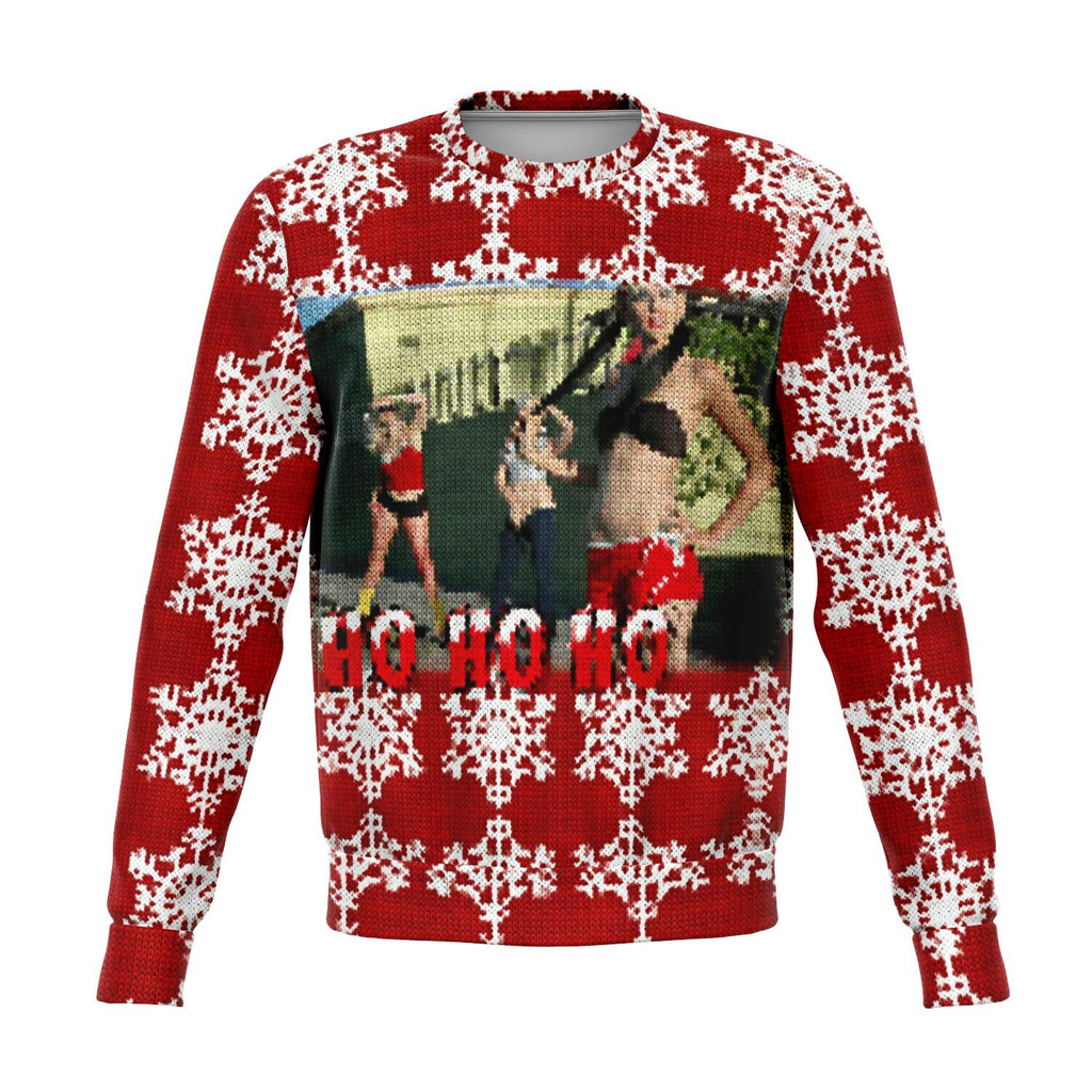 Ho Ho Ho funny and very ugly Christmas sweater