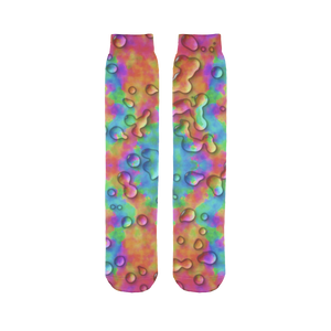 Rainbow 3D tie dye bright colors Sublimation Tube Sock