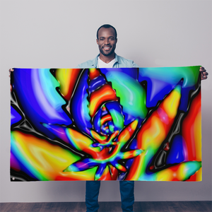 Trippy tie dye weed leaf Sublimation Flag