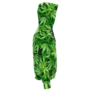 All over print 3D weed leaf hoodie