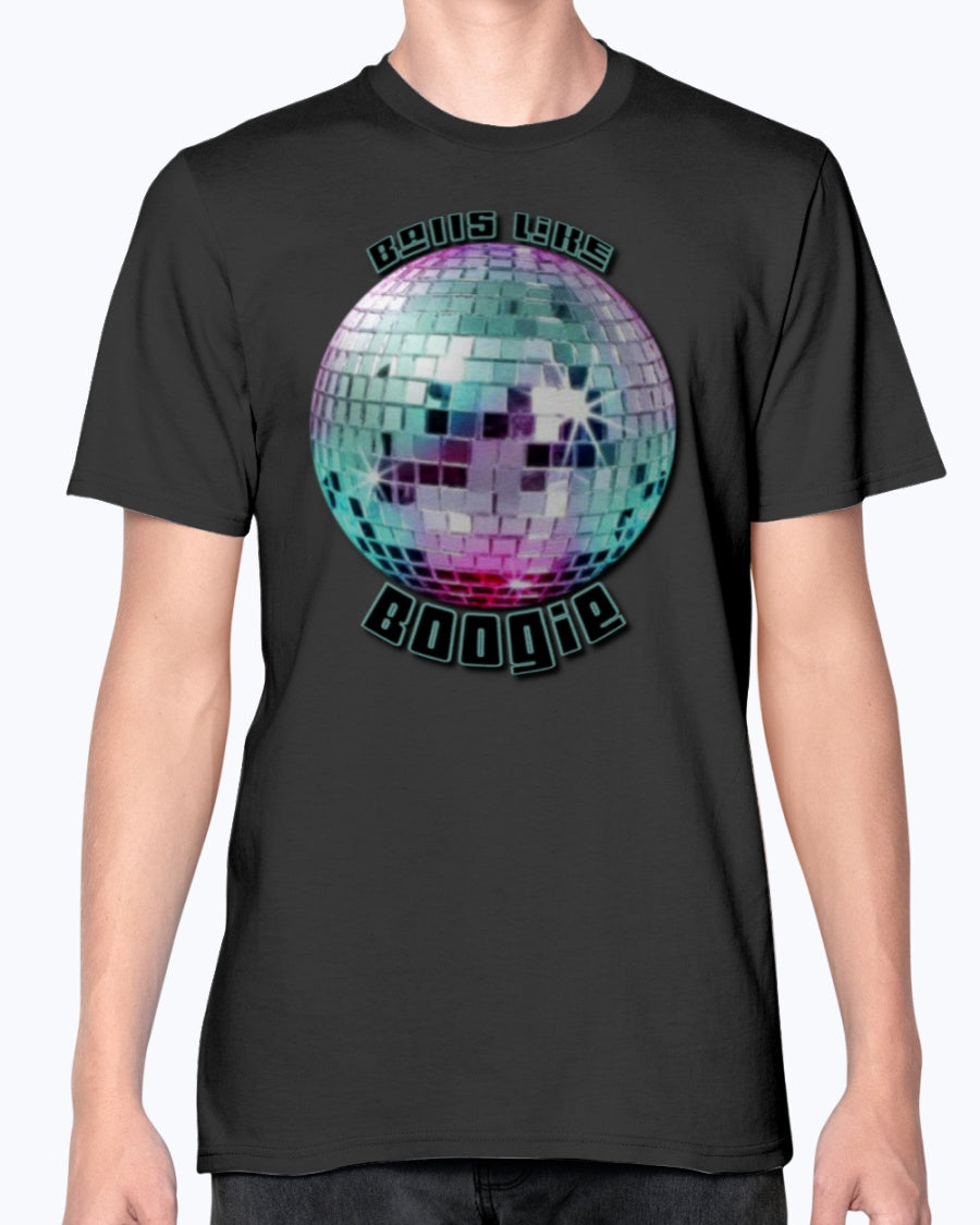 "One of a kind, original ""Balls Like Boogie"" fashion fit T shirt design by Trippies"