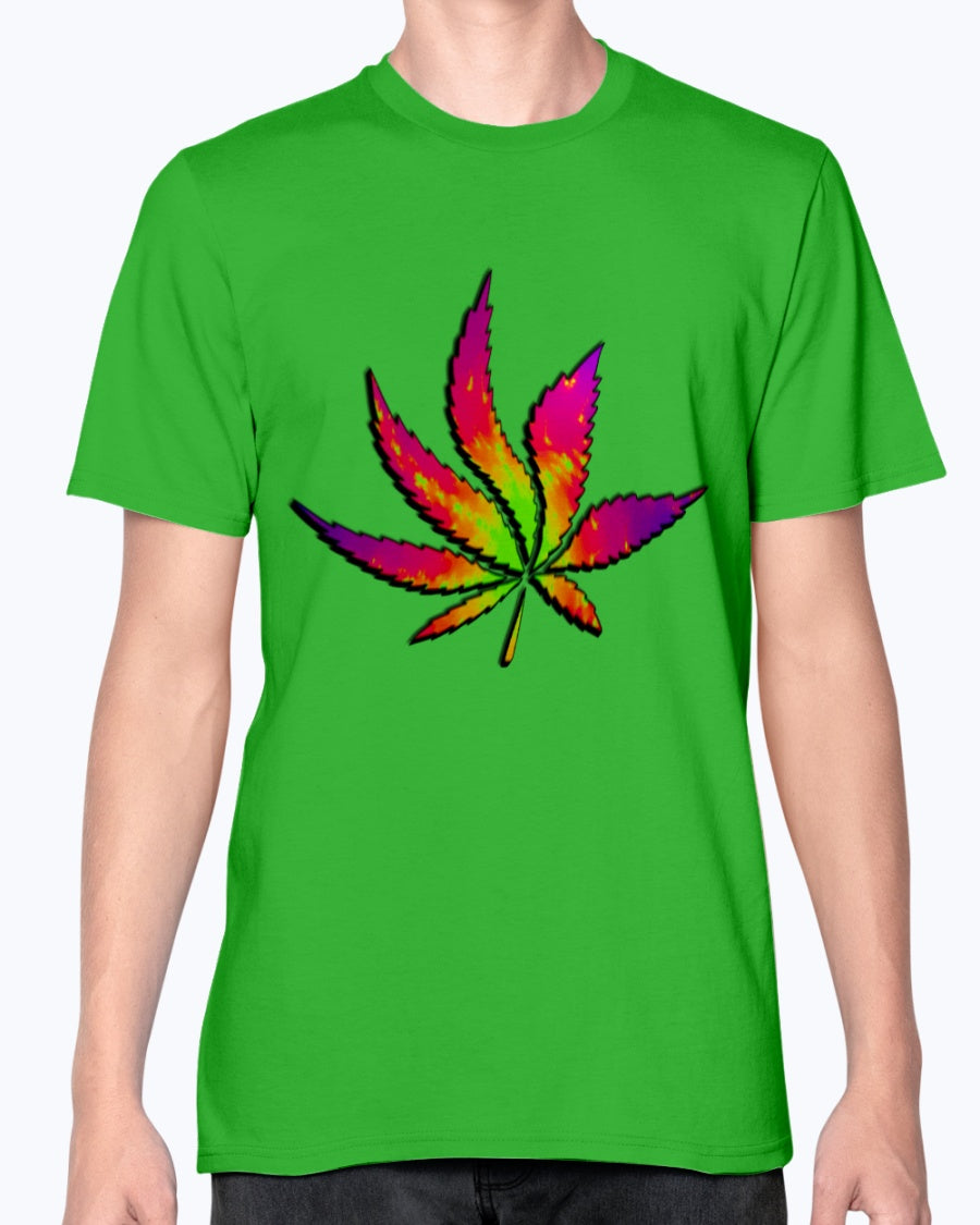 Waving High fractal sativa weed leaf fashion fit T shirt