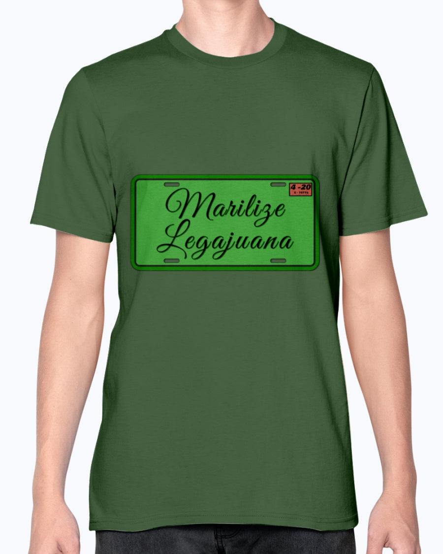License to Marilize Legajuana legalize marijuana cannabis weed fashion fit T shirt