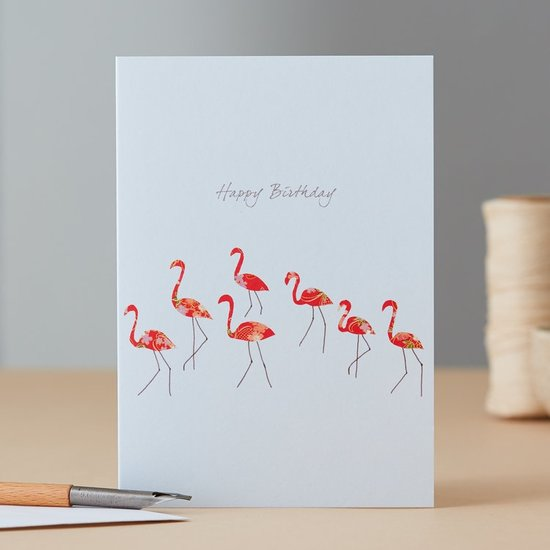 Flamingo Dance Happy Birthday