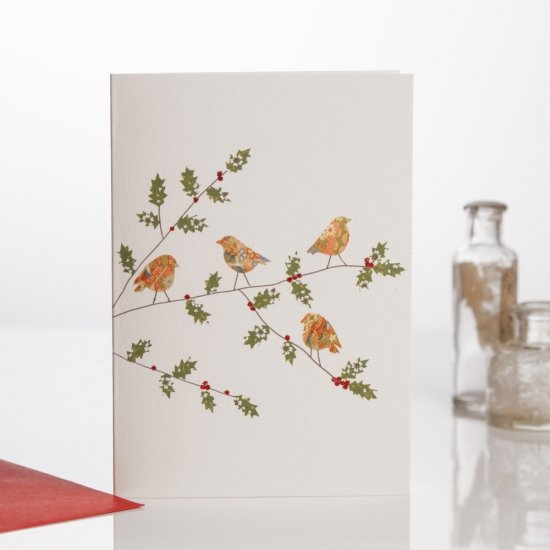 Four Robins (Red envelope)