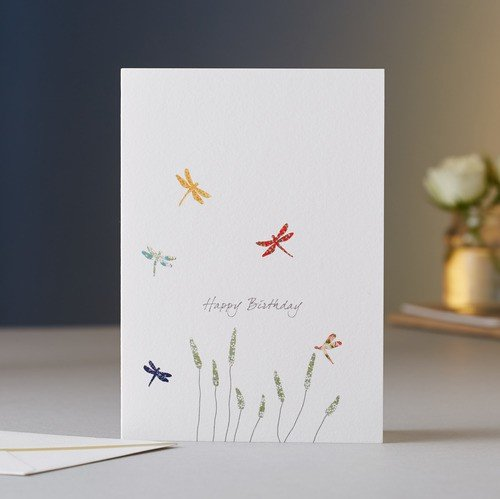 Dragonflies And Grass Happy Birthday