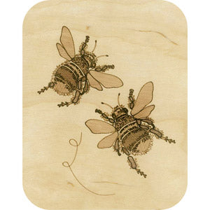 Wooden - Two Bumblebees
