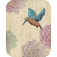 Wooden - Kingfisher And Waterlilies