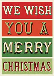 Poster We Wish You A Merry Christmas