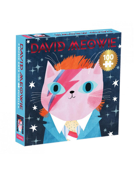 David Meowie Music Cats 100 Piece Puzzle