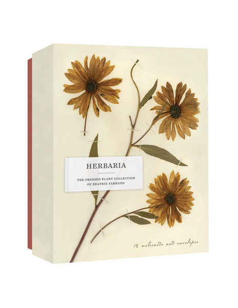HERBARIA. THE PRESSED PLANT COLLECTION OF BEATRIX FARRAND 12 Notecards and Envelopes