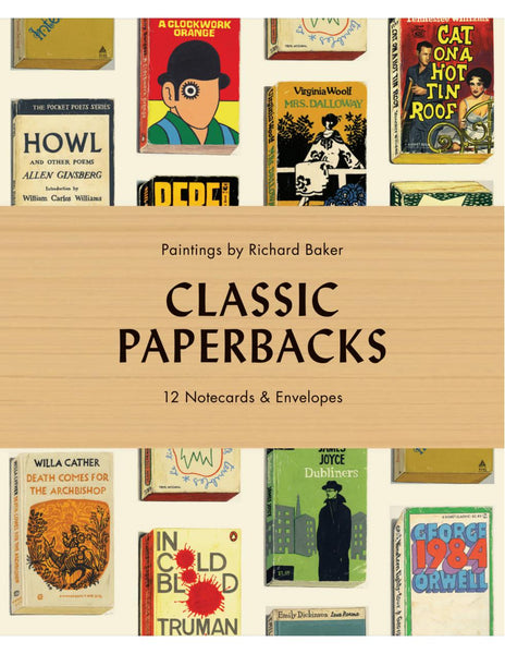 CLASSIC PAPERBACKS 12 Notecards and Envelopes