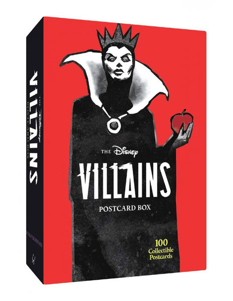 DISNEY POSTCARD BOX - DISNEY VILLAINS 100 Collectible Postcards