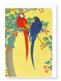 Two parrots and berries