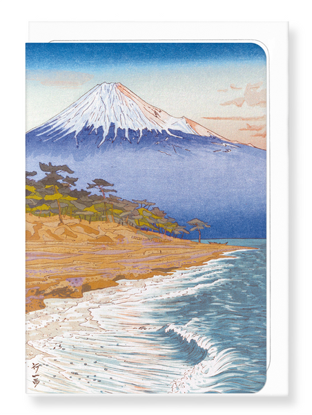Mount fuji from the coast of hagoromo