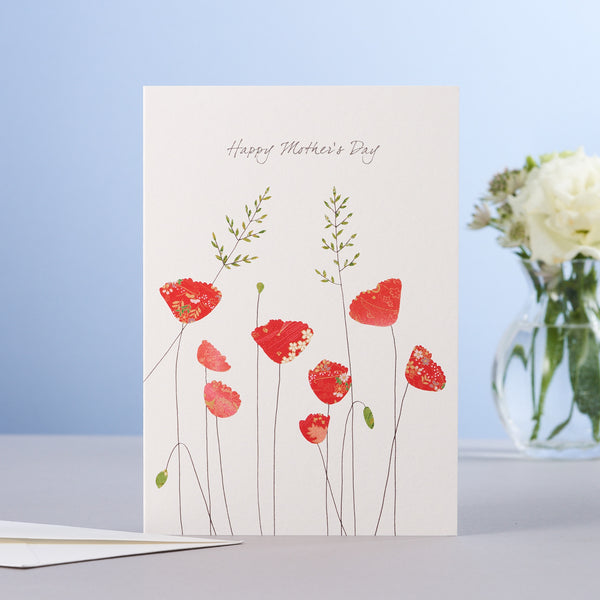 MOTHERS DAY POPPIES & GRASS CARD