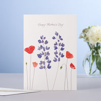 MOTHER'S DAY LUPINES & POPPIES CARD