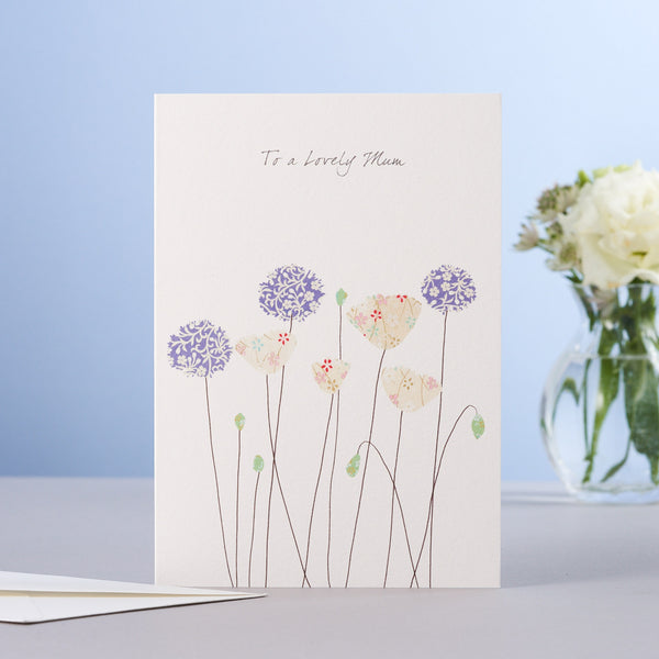 MOTHER'S DAY POPPIES & ALLIUMS CARD