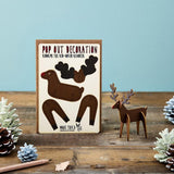 POP OUT RUDOLPH CHRISTMAS CARD