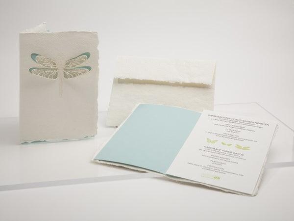 Dragonfly - Handmade Paper Card