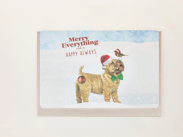 MERRY EVERYTHING AND A HAPPY ALWAYS (Set of 5 cards)