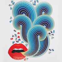 Jonathan Adler Lips 750 pieces Shaped Puzzle