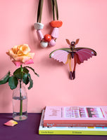 Pink Comet Butterfly Wall Deco