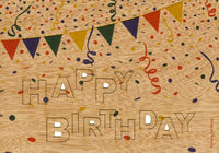 Happy Birthday - Wooden Greeting Card with Pop Up Motif