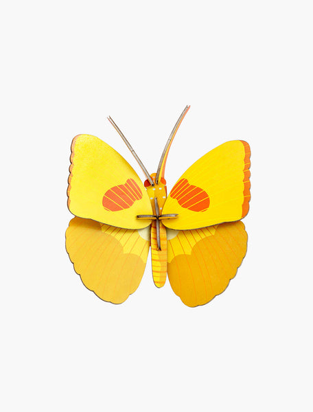 Yellow Butterfly Wall Deco