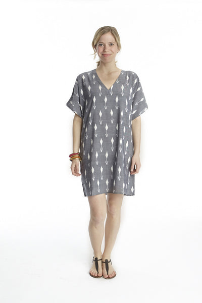 Tulip Ikat Island Dress