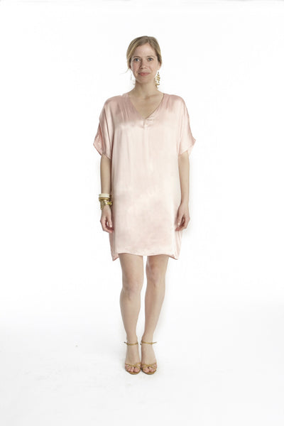 Blush Silk Island Dress