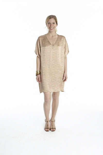Reptile Print Silk Island Dress