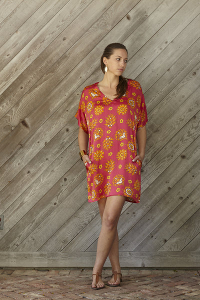 Starflower Silk Dress