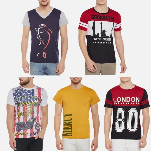 Pack of 5 Branded T-Shirts Combo-2