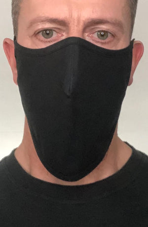 Black Beard Longline Face mask with filter - Thebritishmask