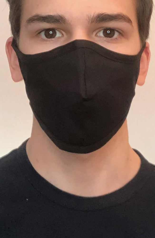 Black Fitted Fashion Face mask with filter