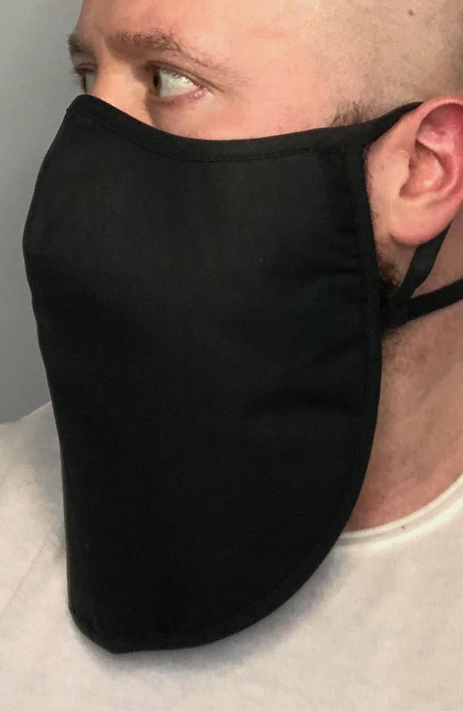 Black X-long Beard Longline Face mask with filter - Thebritishmask