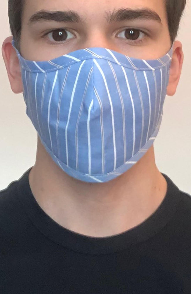 Blue Stripe Active Fashion Face mask with filter