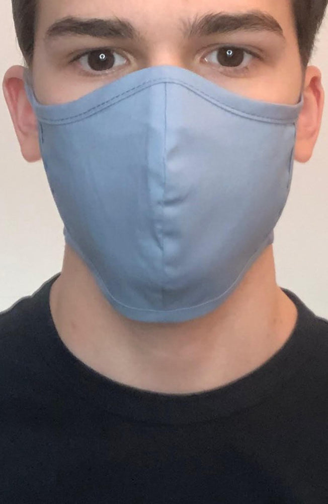 Denim Fitted Fashion Face mask with filter