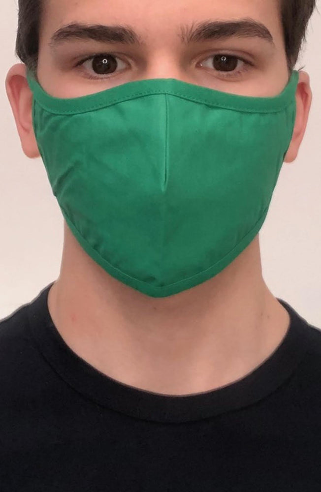 Emerald Green Active Fashion Face mask with filter