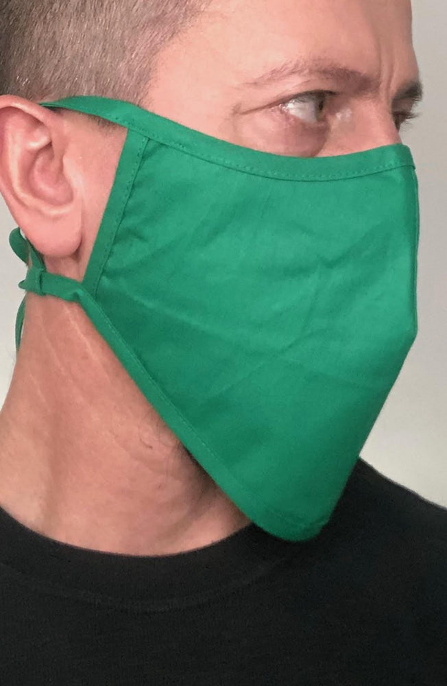 Load image into Gallery viewer, Emerald Green Beard Longline Face mask with filter - Thebritishmask