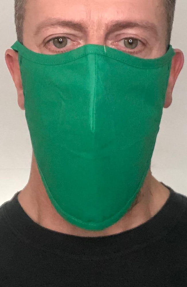 Emerald Green Beard Longline Face mask with filter - Thebritishmask
