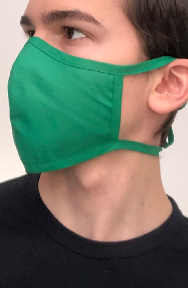 Emerald Green Fitted Fashion Face mask with filter - Thebritishmask