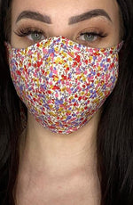 Floral Fitted Fashion Face mask with filter
