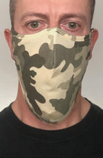 Green Camo Beard Longline Face mask with filter