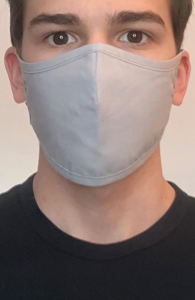 Grey Active Fashion Face mask with filter