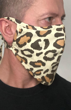 Leopard Beard Longline Face mask with filter - Thebritishmask