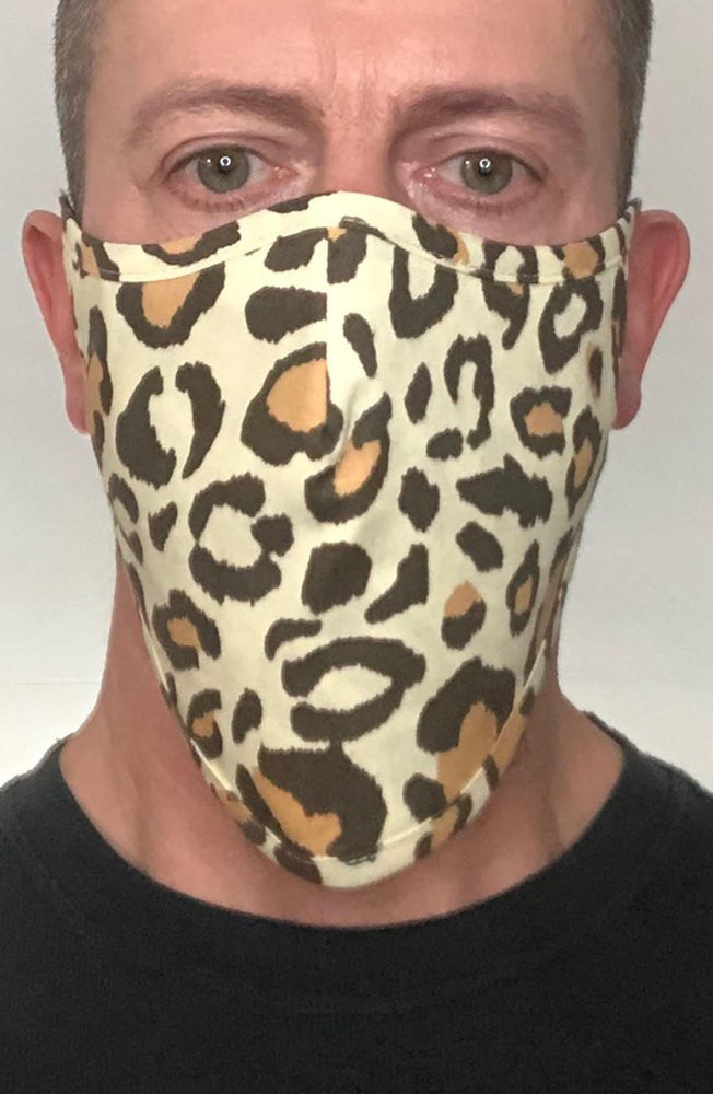 Load image into Gallery viewer, Leopard Beard Longline Face mask with filter - Thebritishmask
