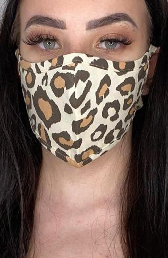 Leopard Print Active Fashion Face mask with filter